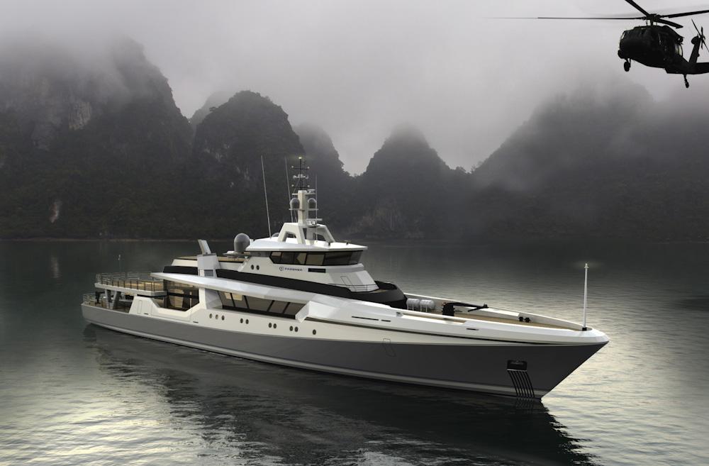 Bewährtes 80-Meter-Patrouillenboot als Luxusmotoryacht