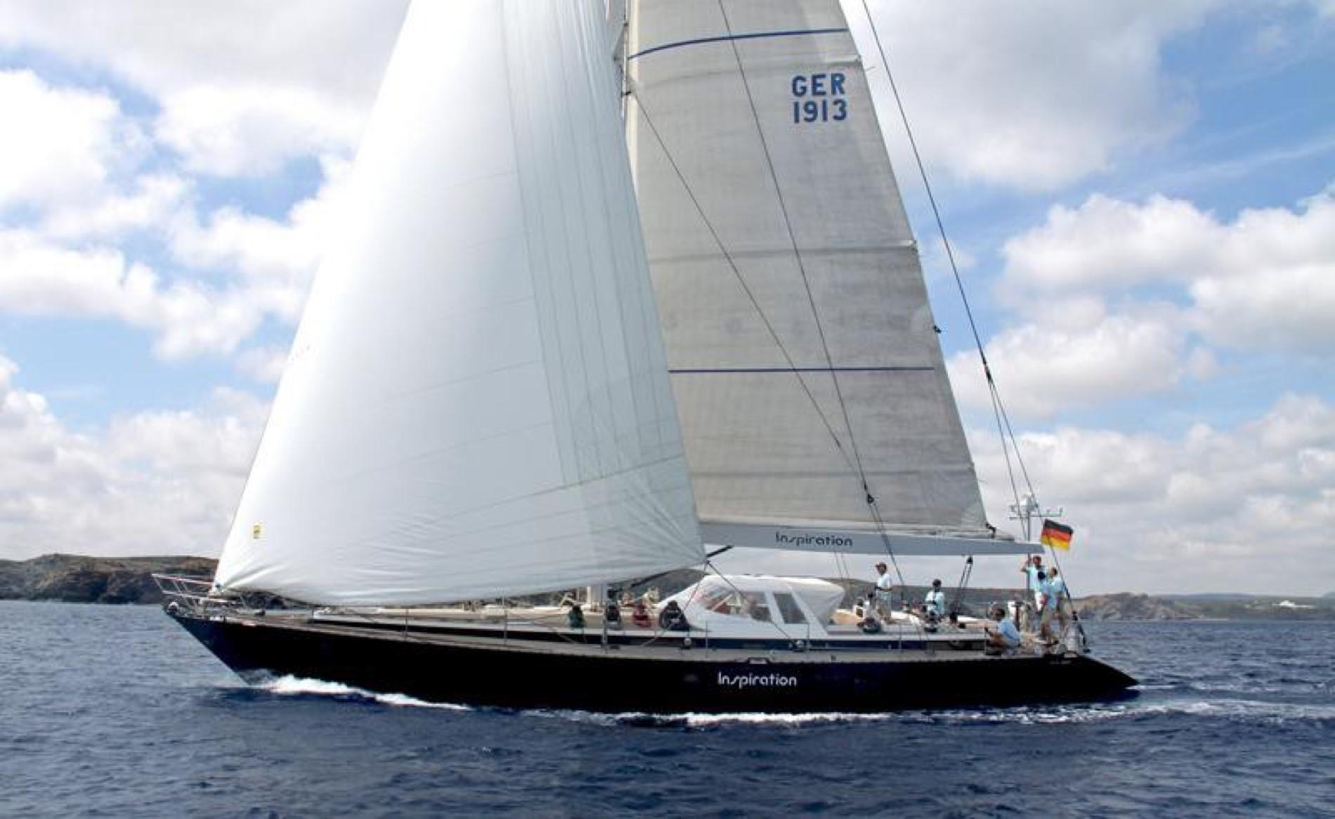 """""""Inspiration"""" ist komplett ausgerüstet zum Regatta- und Fahrtensegeln und liegt derzeit in Palma de Mallorca"""