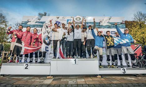 Die Siegesfeier mit dem deutschen Meister der Segelvereine - Touring Yacht Club.