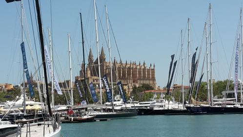 Der Yachthafen von Palma de Mallorca. Zu den Ausstellern gehört auch die DBSV-Arbeitsgemeinschaft Deutsche Yachten.