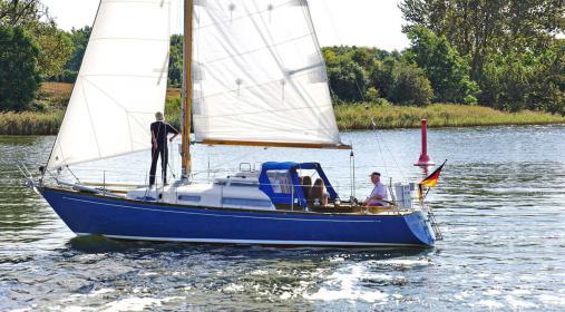 Die 45 Jahre alte Hanseat 69 KS der ehemaligen Asmus-Werft in Glückstadt von Klaus Brockhausen.