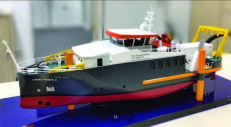 "Modell des Neubaus Forschungsschiff ""Ludwig Prandtl II"""