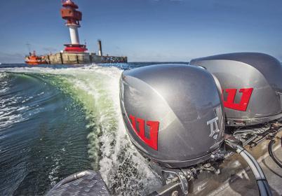 Diesel-Außenborder: Kraftvoll durch hohes Drehmoment. Besonderheit beim Dtorque 111 ist die Technologie der doppelten Kurbelwelle.