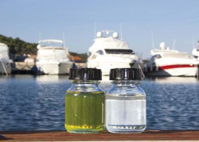 Synthetischer Dieselkraftstoff GTL ist farblos und verbrennt nahezu schadstoffrei.
