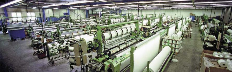 Segeltuchproduktion bei Dimension Polyant