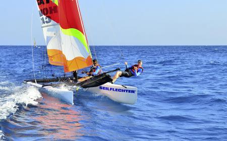 Seilflechter engagiert sich auch als Sponsor für Regattasegler.