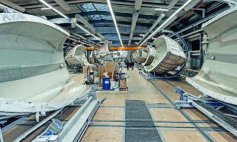 Serienbootsbau bei Bavaria