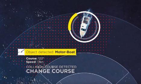 Frühzeitg erkannt: Kollision nahezu ausgeschlossen durch ein neues Marine Assistenz System.