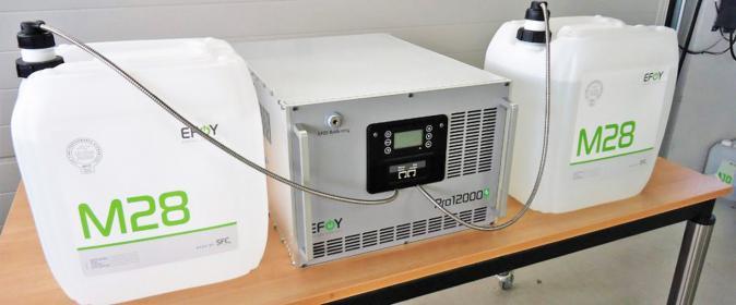 Mit Methanol betriebene Generatoren gibt es bereits seit einigen Jahren im Angebot.