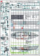 Das heutige CAD-System macht es möglich: der Informationsgehalt von 13 Zeichnungsblättern der ursprünglichen Konstruktion der Hanse-Jolle kann auf einem AO-Plot dargestellt werden.