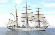 """Segelschulschiff """"Gorch Fock"""": Durch den Einsatz von Brandschutzkork kann die Menge des notwendigen Teakholzes zur Hälfte reduziert werden"""