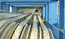Produktion von modernen High-Tech-Leinen bei Gleistein.