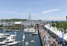 Die ancora Marina in Neustadt bietet eine wunderbar maritime Atmosphäre für das HAMBURG ancora YACHTFESTIVAL.