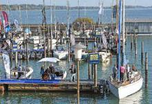 Bei der INTERBOOT gibt es die Möglichkeit mit modernen Yachten zur Probefahrt zu starten.