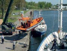 Das neue, schnelle Kontrollboot der Yachtwerft Meyer