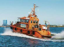 """Methanol-Produktion aus Windenergie. Das schwedische Lotsenboot """"Green Pilot"""" fährt seit über zwei Jahren zuverlässig mit einem mit Methanol betriebenen Motor."""