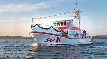 """Der Seenotrettungskreuzer """"Fritz Knack"""" ist 22 Knoten schnell und hat nur einen Tiefgang von 1,3 Metern."""
