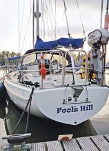 Yachtlinien, die Uwe Kosmehl begeistern: Die 11,20 Meter lange Breehorn 37 stammt aus der Feder des niederländischen Konstrukteurs Dick Koopmans. Sie gilt mit 7,8 Tonnen Verdrängung als besonders seetüchtige Hochseeyacht.