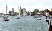 Stark frequentiert: Bundeswasserstraße Schlei bei Kappeln, Tourismus statt Berufsschifffahrt